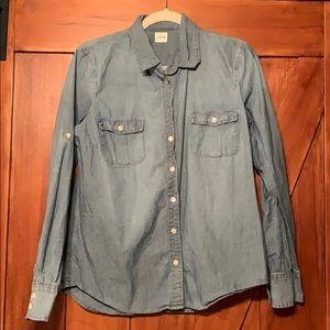 J crew women's denim blouse size medium
